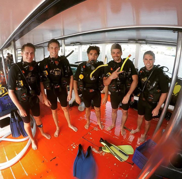 Diving team. Big Blue Diving, Koh Tao