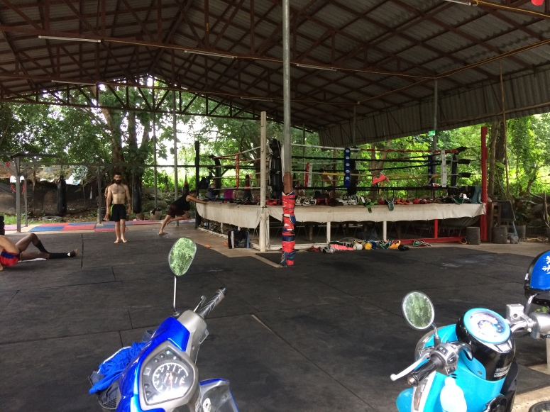 Muay Thai Boxe training center. Pai, Thailand