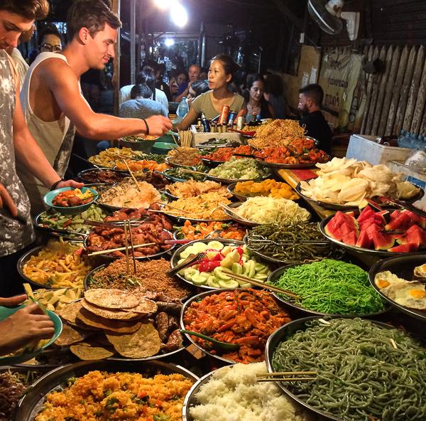 Food Market, Luang Prabang