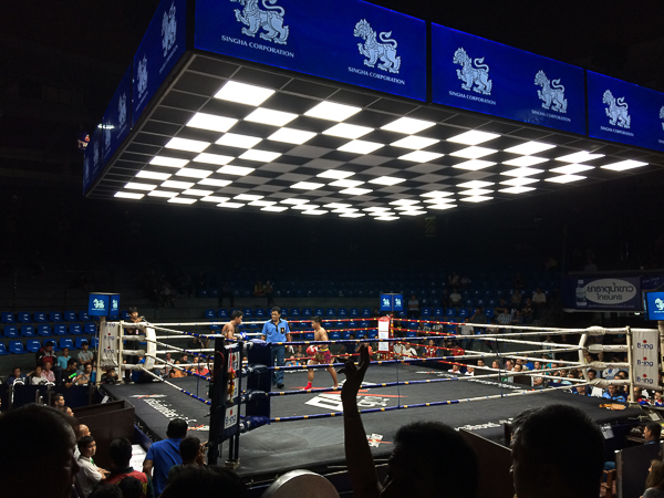 Muay Thai Fight, Rajadamnern stadium. Bangkok