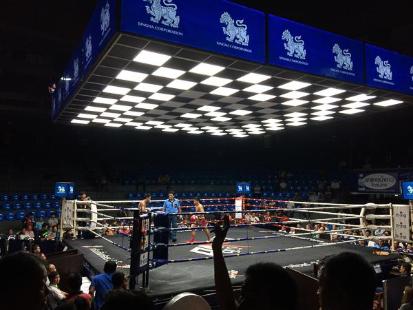 Muay Thai Fight, Rajadamnern stadium. Bangkok